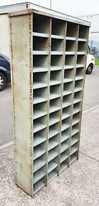 VINTAGE INDUSTRIAL METAL PIGEON HOLE CABINET CUPBOARD      DELIVERY AVAILABLE