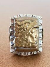 Vintage Mexican Biker Ring Eagle Warrior GUERRERO AGUILA AZTECA