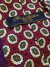 "Brooks Brothers All Silk Paisley Print Men's Tie Burgendy EUC 57"" Long"