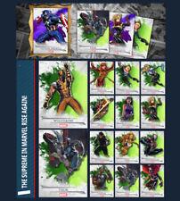 SUPREME-SERIES 2-GREEN SET-14 CARDS-TOPPS MARVEL COLLECT DIGITAL