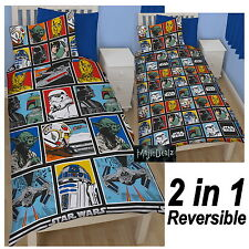STAR WARS 'FORCE' SINGLE DUVET COVER SET NEW OFFICIAL BEDDING