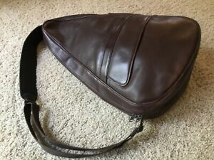 Vintage LL Bean AmeriBag Sling Backpack Brown Leather