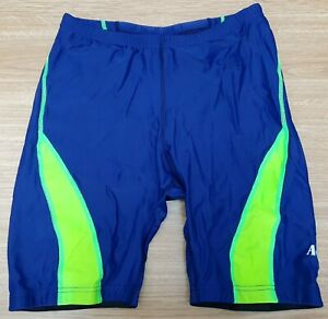 "ACCLAIM Compression Running Shorts Medium Navy Fluo Green XL 32""/34"" Waist"