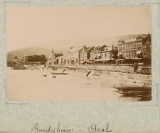 Allemagne, Rüdesheim am Rhein, vue sur les berges  vintage albumen print,Photo