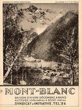 CHAMONIX BREVENT MONT BLANC SYNDICAT D INITIATIVE PUBLICITE 1931 AD
