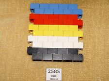 LEGO Parts: 3003 Brick 2 x 2 ASSORTED Black,White,Red,Blue,Yellow x50 65g BLOCK