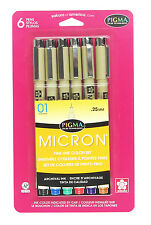 Sakura Pigma Micron .01 asst color set, 6ct  SAK30063