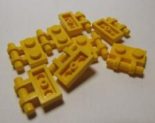 2540 LEGO Parts~(8) Plate, Modified 1 x 2 w Handle on Side YELLOW 2540