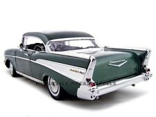 1957 CHEVROLET BEL AIR HARD TOP GREEN 1:18 DIECAST MODEL CAR BY MOTORMAX 73180