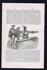 Nordenfelt Anti-Torpedo Machine Gun - 1880s Engraving