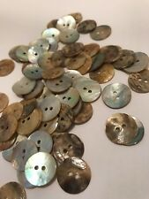 100 X 15MM Natural Mother of Pearl Round Shell 2 Holes Sewing Buttons 15mm