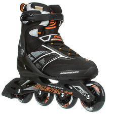 Rollerblades Zetrablade Inline Skates Men Usa 13 Eu 47 Black Orange 80mm Sg5 New
