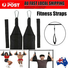 Ab-Crunch Sling AB Strap Weight Lifting Door Hanging Gym Yoga Chinning Bar AU