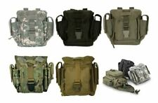 Military Tactical Tool & Accessory MOLLE Adv Dump Pouch Canteen Cover SWAT BLACK