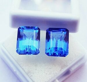 Certified Natural Blue Sapphire Loose Gemstone 8 to 10ct Pair with Free Delivery