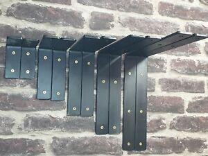 Black colour or unpainted Heavy Duty Shelf Brackets Scaffold Industrial Rustic