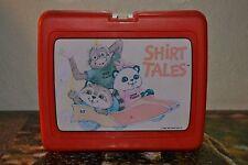 Vintage 1981 Shirt Tales TV Cartoon Plastic Lunchbox Hallmark Bogey Pammy Rick