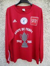 Maillot COUPE DE FRANCE 2003 porté n°6 rouge vintage ADIDAS manches longues XL