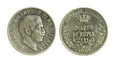 pcc2129_6) Vittorio Emanuele III (1900-1943) SOMALIA ¼ Rupia 1910