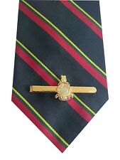 Royal Marines Stripe Tie & Tie Clip Set