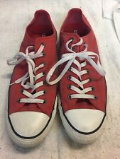 Converse All Star Size 11 Low Tops Distressed/washed Red
