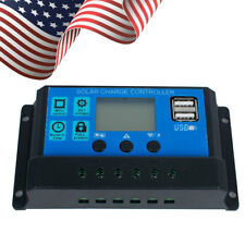 US Stock! 30A Solar Charger Controller Panel Battery Intelligent Regulator CE