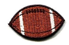 FOOTBALL IRON ON PATCH APPLIQUE 1 5/8 X 1 inch