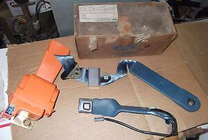 80 81 82 Ford Lincoln Mercury LH Retractable Seat Belt ~ Blue NOS E1BZ-66611A73