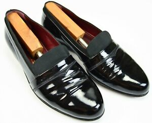 BALLY Banner Hand Made in Italy Blacke Patent Leather Tuxedo Pumps 8.5 M