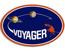 4x4 inch Oval VOYAGER Logo Sticker -space astronomy science nasa insignia planet