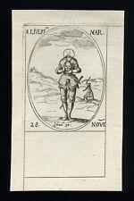 santino incisione 1600 S.LIBERIO M.  j.callot