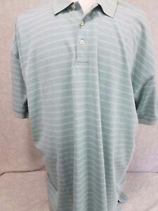 NWOT IZOD Green  striped Polo Shirt 2X big