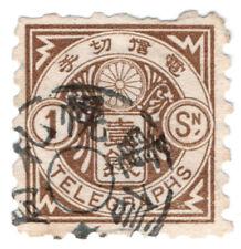 (I.B) Japan Telegraphs : 1sn Brown (1885)