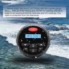 Herdio 4 inch Waterproof Gauge Radio Bluetooth Car Stereo Audio Fm Am Mp3 Aux