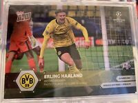Erling Haaland 3/9/21 Fastest to 20 Borussia Dortmund BVB UCL Topps Now Card #50