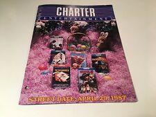 Charter Entertainment Video Advertising Brochure Catalog 1987 Hatchet Honeymoon