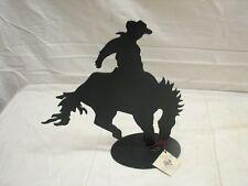 Art Metal Man Tuscon AZ Steel Sculpture Cowboy on Bucking Bronco Western Rodeo