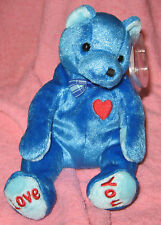 DAD-e TY Beanie Baby Father's Day Blue Pot-BellyTeddy Bear MWMT June 2002