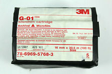 Microfilm Cartridge Archival G-01 Type New Sealed Usa 16mm X 100ft 3M 5 Pack