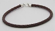 "7.5"" Beautiful Brown Braided Rubber & Silicone Bracelet Humane VEGAN"