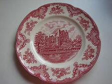 Speiseteller 25cm, Johnson Brothers, Old Britain Castles, rot, mehrere verfügbar