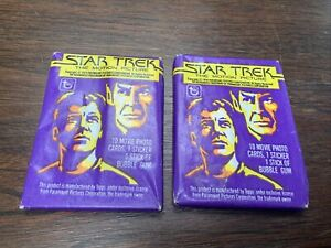 1979 Topps Star Trek The Motion Picture Trading Cards (2) Sealed Wax Packs