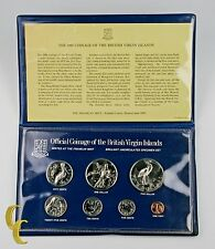1980 British Virgin Islands Mint Set, All Original 7 coins w/ Case MS8