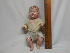 """Vintage Composition Jointed Baby 10"""" Doll"""