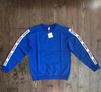 Moschino Moschino Tape Logo Blue Sweatshirt EU ExtraLarge (DUSTBAG INCLUDED)