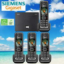 SIEMENS GIGASET C530IP CORDLESS HYBRID PHONE SYSTEM IP / LANDLINE - 4 PHONES