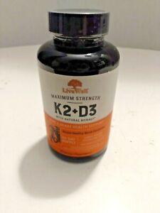 LiveWell K2 + D3 Bone + Heart Health Dietary Supplement - 60 Softgels