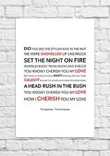 The Libertines - Time For Heroes - Song Lyric Art Poster - A4 Size