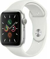 Apple Watch Series 5 44mm Aluminum Case White Sport Band Smartwatch -  Fair