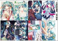 8PCS/set Anime VOCALOID Hatsune Miku Kagamine A3 Posters Print
